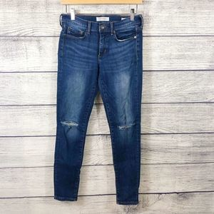 Banana Republic skinny ankle distressed jeans 27
